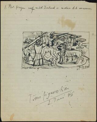 Sketch for Perseus' (Hercules') Last Duty