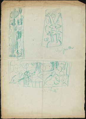 Sketch for Death and Two Unidentified Subjects