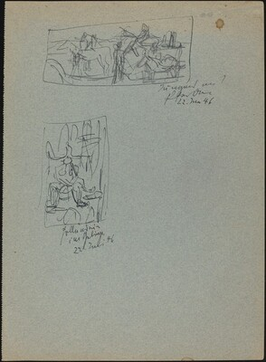 Two Sketches of Unidentified Subjects