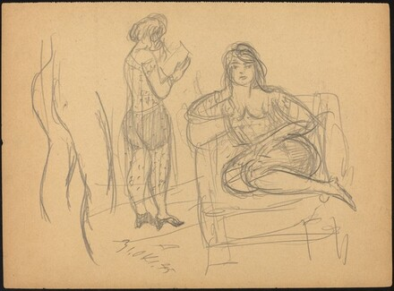 Seated Woman and Woman Reading