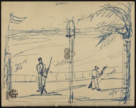 Two Men on a Boardwalk