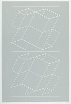 White Embossing on Gray VII