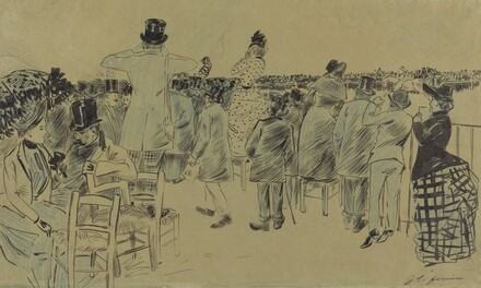 Crowd of Spectators at the Track, Deauville