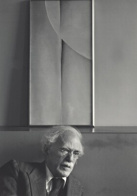 Alfred Stieglitz and Painting by Georgia O'Keeffe, An American Place, New York City
