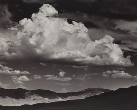 White Mountain Range, Thunderclouds,  from the Buttermilk Country, near Bishop, California