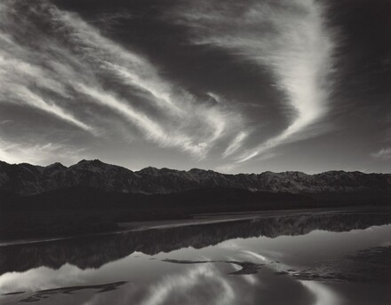 Evening Clouds and Pool, East Side of the Sierra Nevada from the Owens Valley, California