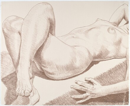 Nude Lying with Crossed Legs