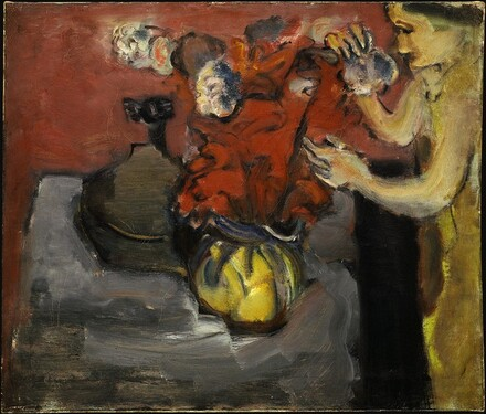 Untitled (woman arranging flowers)