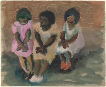 Three Girls Seated
