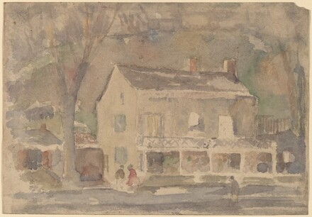 House with Figures in Front [recto]