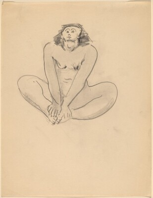 Nude Seated on the Ground, Facing Front