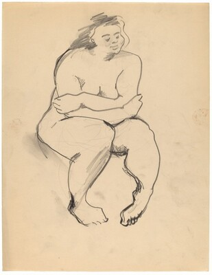 Seated Nude, Arms Crossed, Feet Turned In