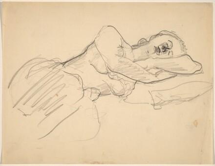 Sleeping Woman, Head Resting on Arms