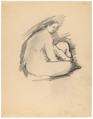 Seated Female Nude, Turned to the Right