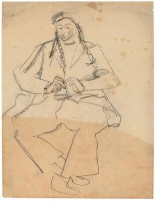 Seated Figure Reading