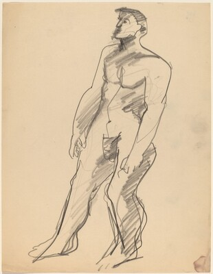 Standing Nude Man Turned to the Left, Arms at Side