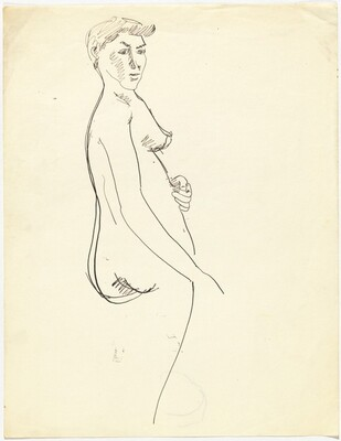 Torso of a Standing Nude Turned to the Right [recto]