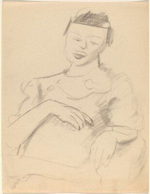Half-Length Portrait of Seated Woman Facing Front