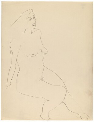 Seated Nude, Three-quarter View, Turned to the Right