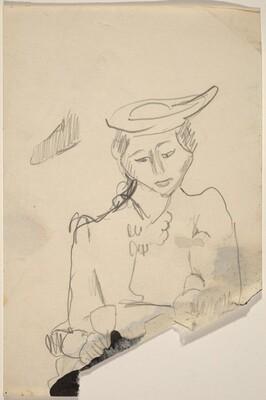 Half-Length Portrait of a Woman Wearing a Hat