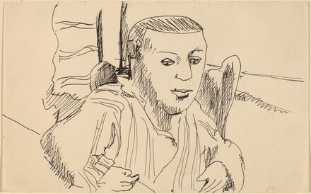 Seated Man with Left Arm on Table