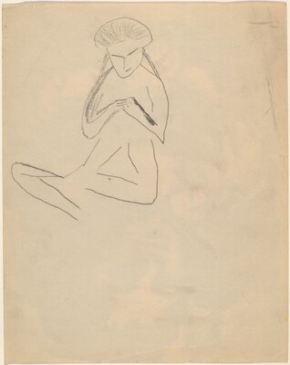 Seated Figure with Hands Clasped [verso]