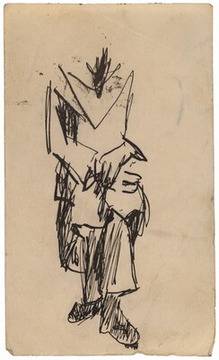 Seated Headless Figure with Hands Crossed in Lap