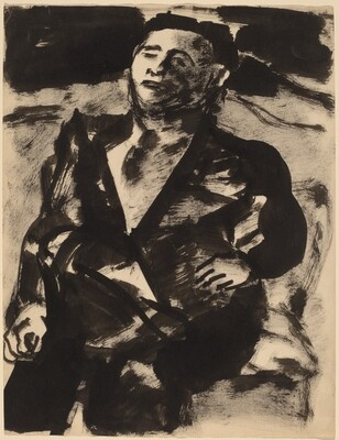 Seated Man Wearing a Jacket