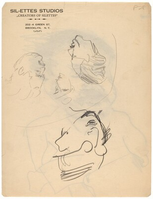 Four Studies of Heads [verso]