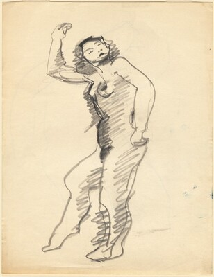 Standing Female Nude Facing Left [recto]