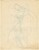 Study of Standing Female Nude [verso]