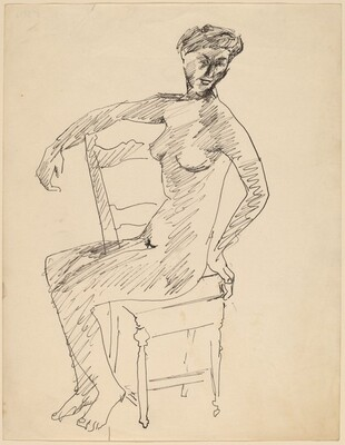 Female Nude Seated in a Chair
