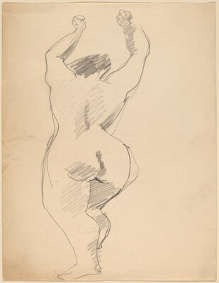 Rear View of Nude Figure