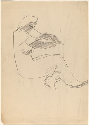 Seated Figure Facing Right