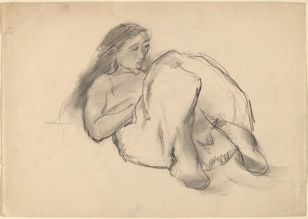 Woman Reclining, Knees Bent