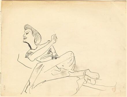 Reclining Female Figure, Head Turned Left [verso]