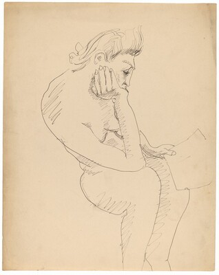 Seated Figure Reading