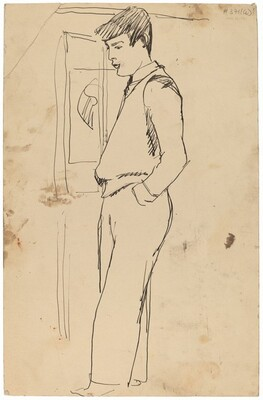 Standing Man with Hand in Pocket [verso]