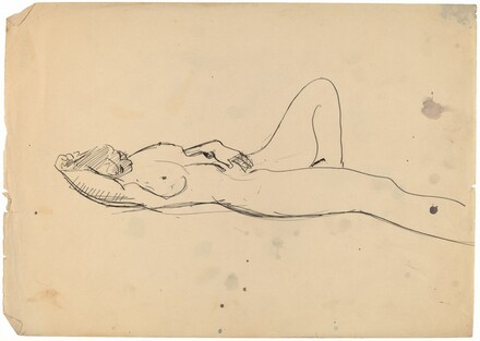 Reclining Female Nude with Left Arm Above Head