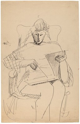 Woman in a Rocking Chair Reading