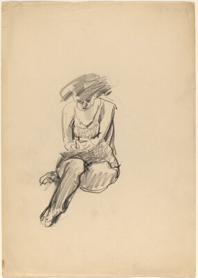 Seated Woman with Right Ankle Under Left Knee