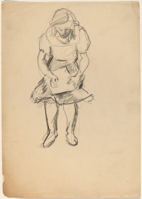 Seated Woman with Object in Her Lap