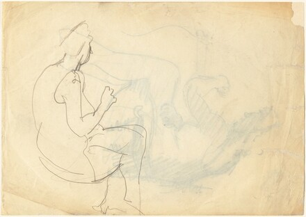 Seated Woman with Crossed Legs [verso]