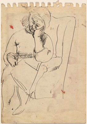Woman Seated in a Chair [verso]