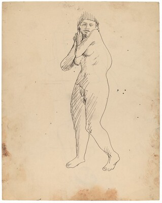 Standing Female Nude [recto]