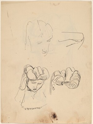 Studies of a Woman's Hair [verso]