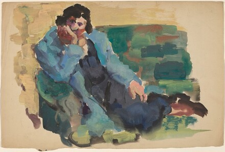 Woman Reclining on a Sofa
