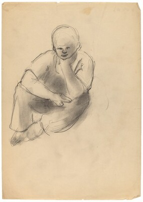 Seated Boy with Chin in Hand
