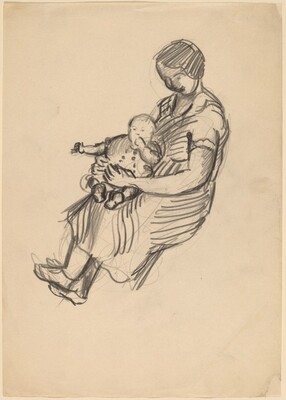 Seated Woman Holding a Child in Her Lap