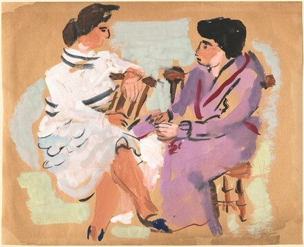 Two Seated Women Conversing